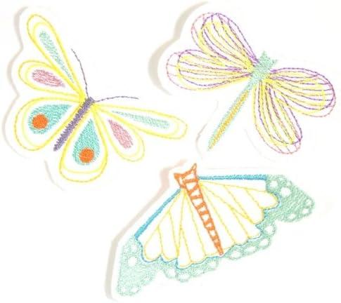 Parche Mariposas Juego aufbügler 3 bügelflicken Libélula mariposa ...