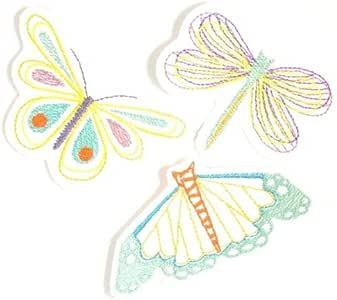 Parche Mariposas Juego aufbügler 3 bügelflicken Libélula mariposa applikation Pack parches termoadhesiva (para niños y adultos: Amazon.es: Hogar
