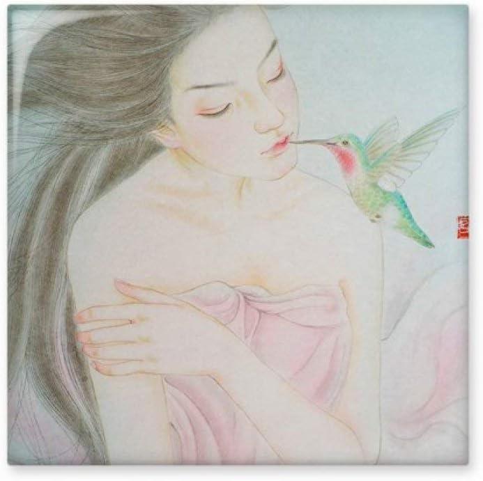 Belleza con pájaro estilo chino de cerámica crema decoración de azulejos baño cocina azulejos de pared azulejos de cerámica