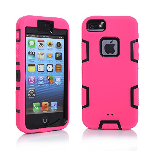 [iPhone 5S Case, iPhone SE Case, iPhone 5 Case, KAMII 3in1 Shock Absorbing Hard PC+Soft Silicone Hybrid Rubber Combo Heavy Duty Armor Hard Case Cover for Apple iPhone 5S/SE/5 (Hot] (Hot Superhero Women)