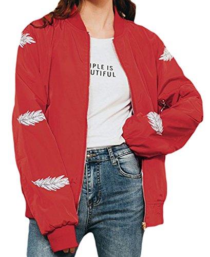 erdbeerloft - Chaqueta - Opaco - para mujer Rojo