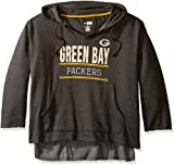 Profile Big & Tall NFL Green Bay Packers V Notched Pullover Hood with Ragged Edge, 2X, Charcoal/Heather