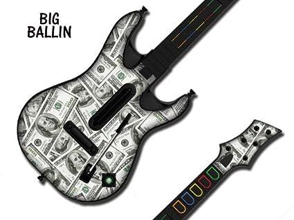 247Skins - Skin para guitarra de Guitar Hero 4 World Tour para Xbox 360 y PS3, diseño de dólares: Amazon.es: Videojuegos