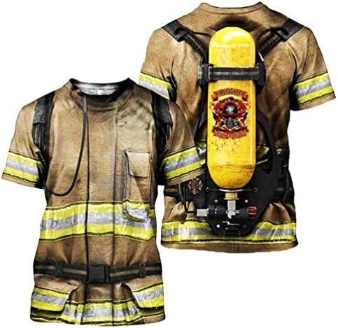 Amazon.com: ONSEFZMZ Traje de bomberos 3D Camisas Tees ...
