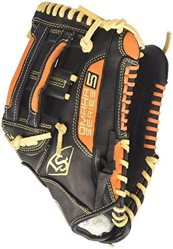 Louisville Slugger Omaha S5 Infielder's Glove, Left, Black/Orange, ()