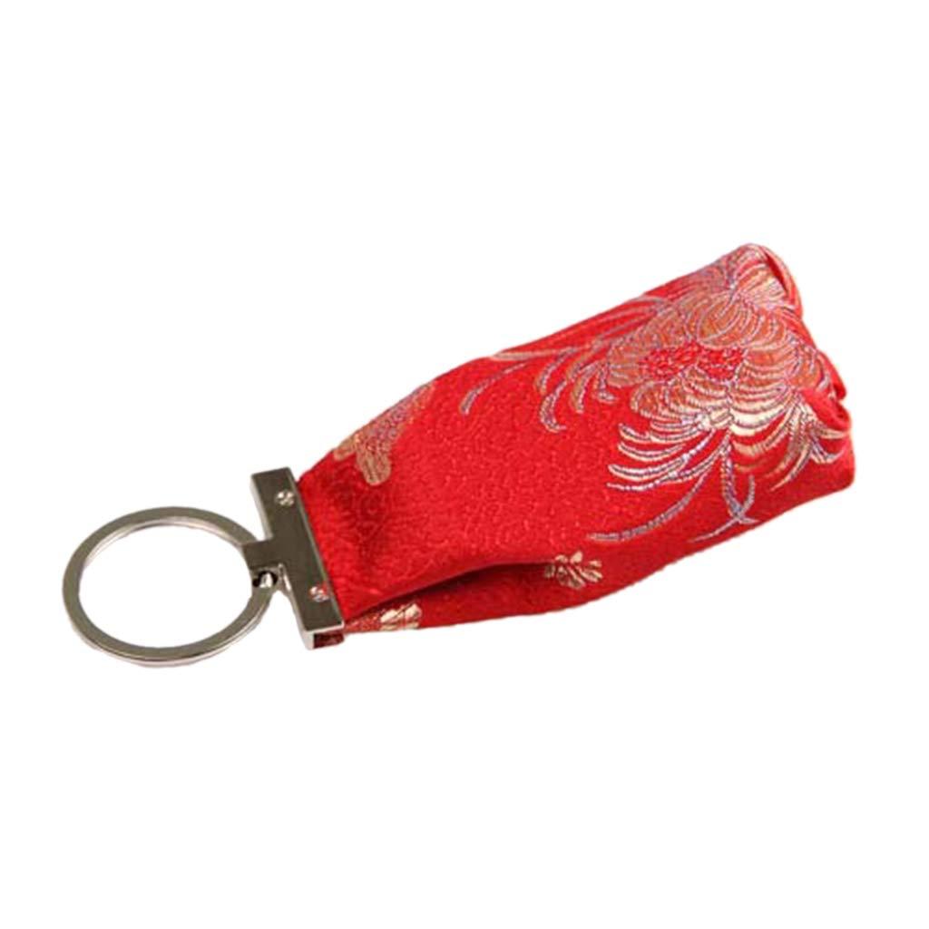 llavero para mujeres y ni/ñas tama/ño peque/ño Cansenty Mini cartera con cierre para monedas