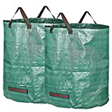 IvyH Garden Bags - 72 Gallons Leaf Bag Reusable Gardening Bagster Collapsible Lawn Yard Waste Containers 2 Pack