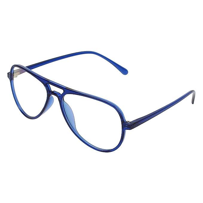 582ec38299 Zyaden Blue Aviator Unisex Eyewear Frame 461  Amazon.in  Clothing ...