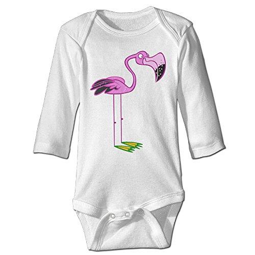 [NINJOE NewBorn Boy's & Girl's Pink Flamingos Long Sleeve Bodysuit Baby Onesie White 18 Months] (Dwayne Johnson Baby Costume)