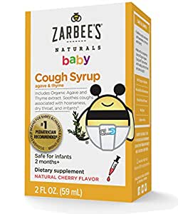 Zarbee's Naturals Baby Cough Syrup, Natural Cherry Flavor, 2 Fl. Ounces