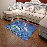 YOLIYANA Modern Carpet,Constellation,for Living Room Bathroom,55.12'' x78.74'',Exo Solar Planet Painting Style Vibrant