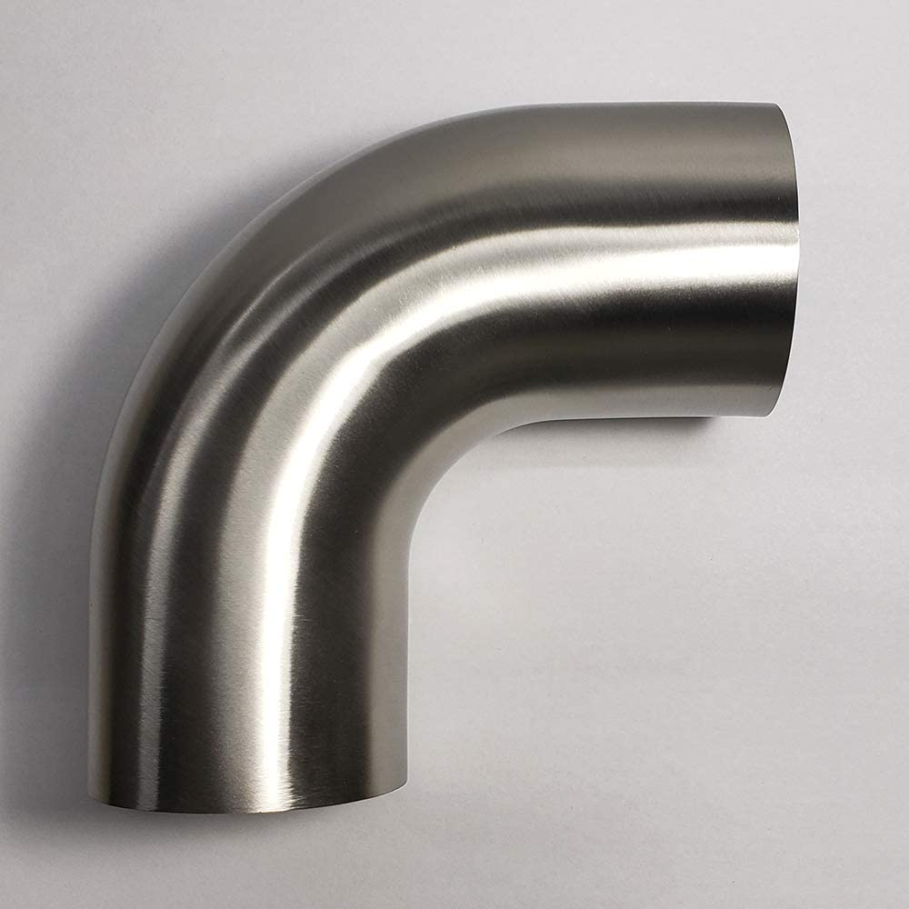 """5/"""" ID OD 90 Degree Exhaust Elbow Pipe with 10/"""" Arms 16 Ga Steel"""