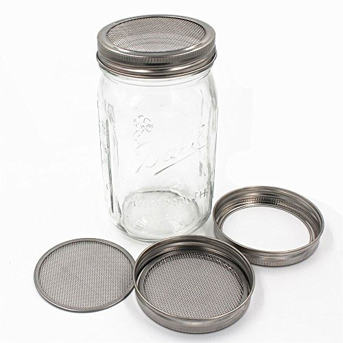 Set of 4 Stainless Steel Sprouting Jar Lid Kit for Superb Ventilation Fit for Wide Mouth Mason Jars Canning Jars for making organic sprout seeds in your house/kitchen by CHBKT (Image #3)