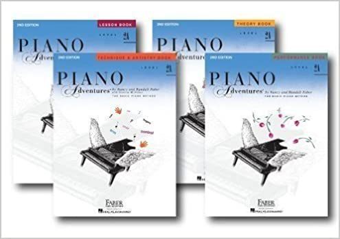 faber piano adventures level 2a learning library pack four book set lesson theory performance and technique artistry books