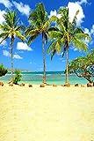 GladsBuy Tropical Beach 6' x 9' Digital Printed Photography Backdrop KA Series Background KA105