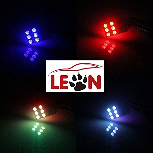 Auto LED 2 unidades con mando a distancia 16 colores LED T10 SMD Lámpara de lectura: Amazon.es: Coche y moto