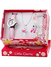 Little Gems Kids Ballerina Watch & Jewellery Gift Set for Girls R2208