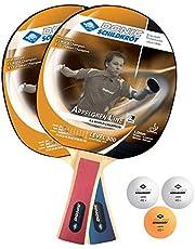 Donic-bord kröt tafeltennisset niveau 300 voor 2 spelers (2 rackets 1,0 mm spons, 3 ballen, in blister, goede vrijetijdskwaliteit), 788634