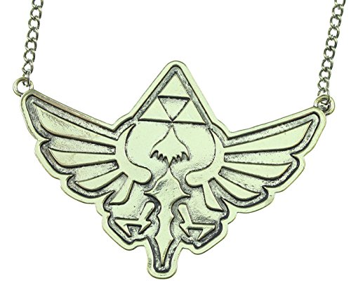 Nintendo Zelda Skyward Sword Triforce Logo Necklace (Hanging Logo Charm Necklace)