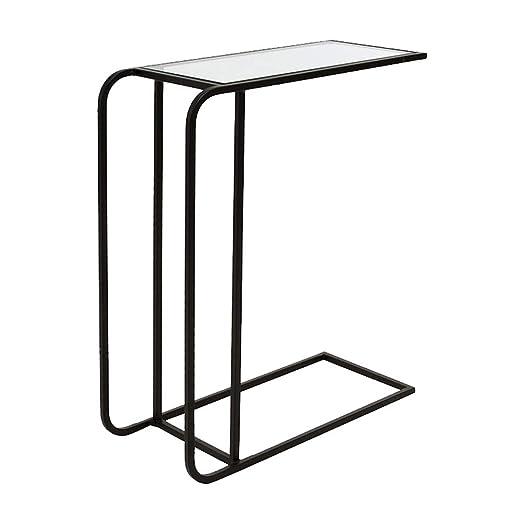 FxsD Mesas Mesa de café, Hierro Forjado Material, Transparente de ...