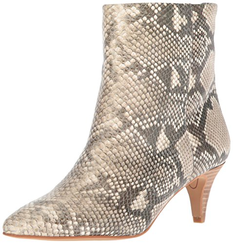 Dolce Vita Women's Deedee Ankle Boot, Snake Print Embossed Leather, 7.5 M US