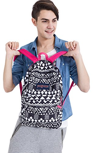 JanSport Unisex SuperBreak Black Geo Graphic One Size by JanSport (Image #3)