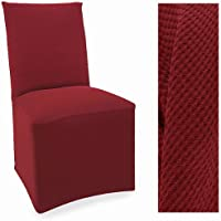 Stretch Pique Warm Maroon Dining Slipcovers Set of four Chair Covers 712