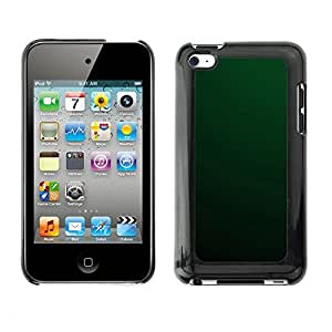 Soft Silicone Rubber Case Hard Cover Protective Accessory Compatible with Apple IPod Touch 4 - Simple Green