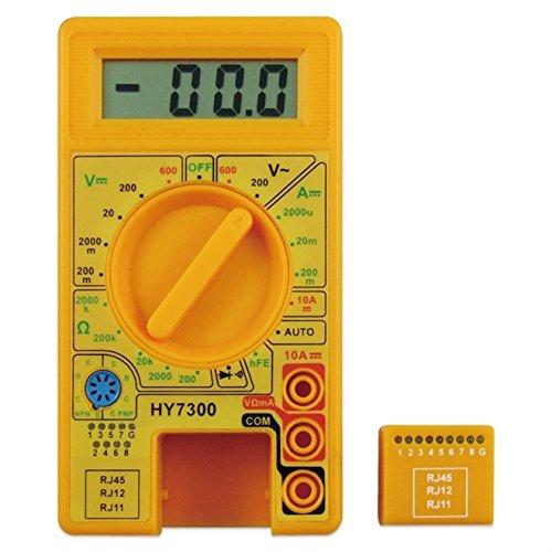 MULTIMETRO DIGITAL TESTE DE REDE E TELEFONIA PROFISSIONAL HY7300 DCV, ACV, CABO