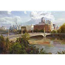 Perfect Effect Canvas ,the Vivid Art Decorative Canvas Prints Of Oil Painting 'The Bridge', 24x36 Inch / 61x91 Cm Is Best For Bar Gallery Art And Home Decoration And Gifts