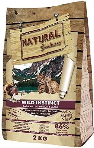 Natural Greatness Pienso seco para Gatos Receta Wild Instinct. Ultra Premium - Cat & Kiiten Medium & Large - Todas Las Razas. 2 kg: Amazon.es: Productos para mascotas