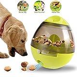 Pet Food Ball Treat Dispensing Dog Toys IQ Treat Ball Dog Treat Dispensing Ball Increases IQ and Mental Stimulation, Best Alternative to Bowl Feeding- Green