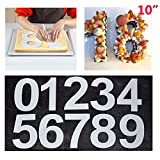 Large Number Cake Tins Mold 0-9 Numbers Cake Pans For Fillings Layered Cake Wedding Birthday 10'' (25cm)