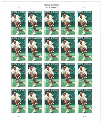 Althea Gibson Black Heritage Series Sheet of 20 Forever Postage Stamps Scott 4803 By ()