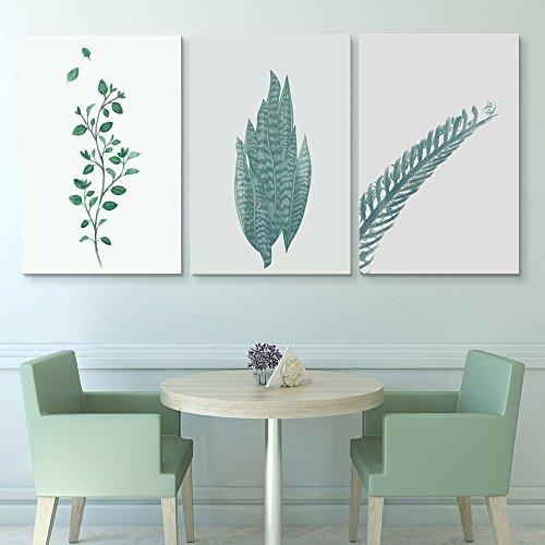 3 Panel Retro Style Plants x 3 Panels