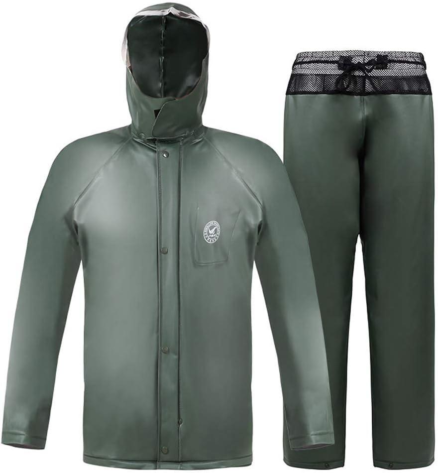 Guyuan Pantalones Impermeables de la Lluvia fijaron el Impermeable de la Motocicleta del Coche eléctrico Hombres Adultos para Llevar Poncho Impermeable del Montar a Caballo (Size : L)