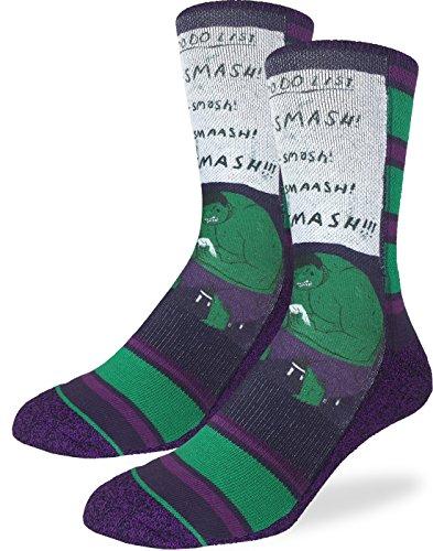 Good Luck Sock Mens Smash To Do List Crew Socks - Purple, Adult Shoe Size 8-13