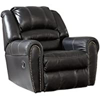 Ashley Furniture Signature Design - Manzanola Recliner - Rocker - Pull Tab Manual Reclining - Black