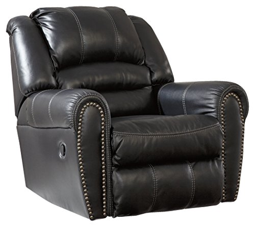Ashley Furniture Signature Design - Manzanola Recliner - Rocker - Pull Tab Manual Reclining - - Ashleigh Gentle