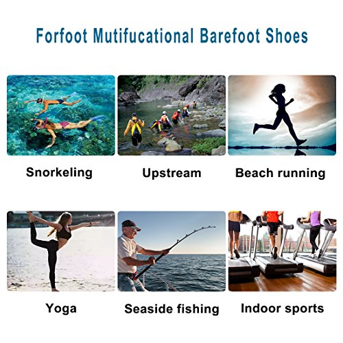 Forfoot Water Socks, Unisex Water Skin Shoes Low Top Diving Snorkeling Neoprene Beach Socks Scuba Dive Snorkel Socks Volleyball Soccer Shoes For Water Sports Yoga 003 2 Pairs Black+blue Navy Blue