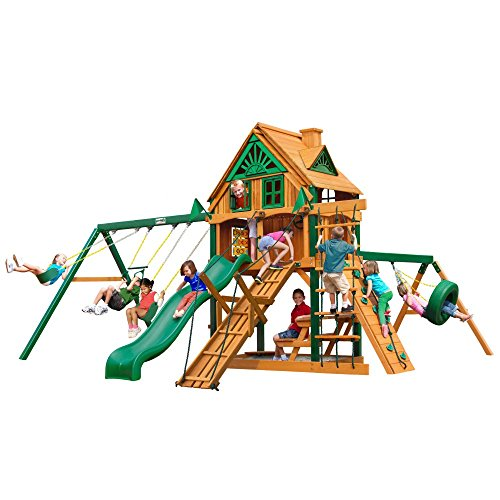 Gorilla Playsets Frontier Treehouse Swing Set