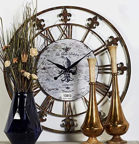 Deco 79 13813 Metal Clock 36″ D