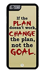 iZERCASE iPhone 6 PLUS Case Change the Plan Not Goal RUBBER CASE - Fits iPhone 6 PLUS T-Mobile, Verizon, AT&T, Sprint and International by icecream design