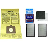 11 Kenmore Type C or Type Q Premium Allergen Canister Vacuum Bags, (1) Kenmore CF1 81002 Motor Chamber Filter, (2) Kenmore EF1 86889 HEPA Exhaust Filters, Fits Progressive, Intuition, Canisters