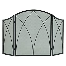 Pleasant Hearth 959 Arched Fireplace Screen - Black from GHP-Group Inc