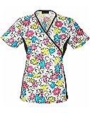 flexible scrub tops - Flexibles by Cherokee Women's Mock Wrap Floral Print Scrub Top XX-Large Print