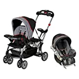 Baby Trend Sit N' Stand Platform Canopy Ultra Stroller Travel System w Car Seat