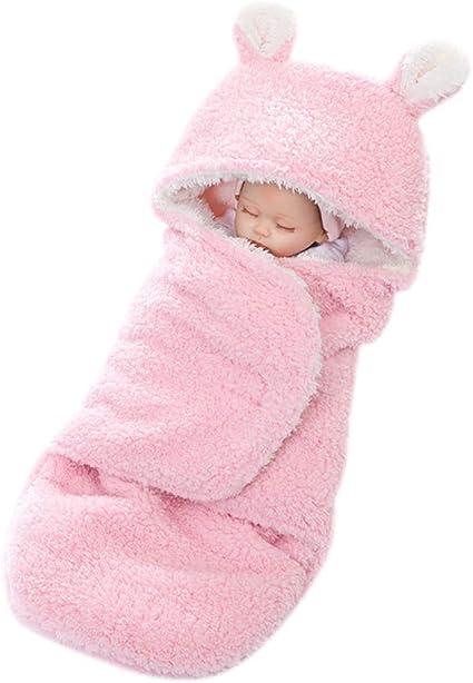 YeahiBaby Mantitas de Arrullo para Bebé Recién Nacido para Cochecito de Bebé Manta Suave y Cálida para Niños y Niñas de 0 a 12 meses (Rosa): Amazon.es: Bebé