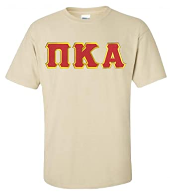 6459c5d5 Image Unavailable. Image not available for. Color: Greekgear Men's Pi Kappa  Alpha Fraternity Greek Lettered Short Sleeve T-Shirt ...