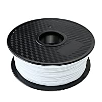 3D Printer Filament White PLA 1.75 mm, 1 KG Spool( 2.2 lb) Dimensional Accuracy +/- 0.05 mm from 3D KING